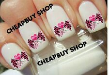 Top Quality《NASCAR PINK CHECKERED RACING FLAGS RACE CAR》Tattoo Nail Art Decals