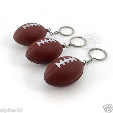 3 piece football Rugby model Soft rubber Pendant Keychain Keyring Hangings Toys
