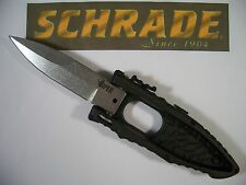 SCHRADE - VIPER Side Opening SPRING ASSISTED knife w/ dual sliders safety SCHSA