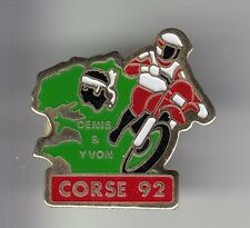 RARE PINS PIN'S .. MOTO MOTORCYCLE SPORT TOUR RACING ILE CORSE 1992 TEAM D&Y ~C4