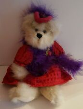 """Heritage Collection by GANZ Bear Doll, 11"""" high- Red hat Society look"""