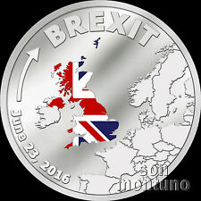 BREXIT COIN - One Dollar Silver Proof - JUNE 23 2016 - Cook Islands $1 UK/EU