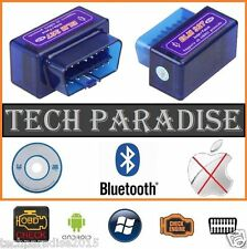 Interface Valise diagnostic diagnostique ELM327 HUD OBDII Bluetooth *Bleu* + CD
