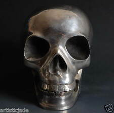 Skull Head Statue! Tibetan Buddhist Tantric Prayer Auspicious! movable Chin