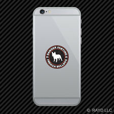 Danger Farting French Bulldog Cell Phone Sticker Mobile Die Cut