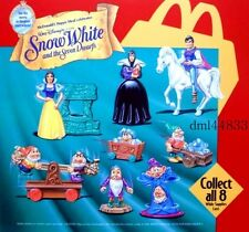 1993 McDonalds Snow White MIP Complete Set - Lot of 8, Boys & Girls, 3+