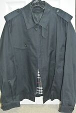 VINTAGE BURBERRYS ENGLAND MEN'S COTTON BLEND NAVY JACKET_COAT