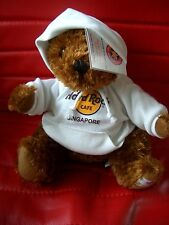 HRC Hard Rock Cafe Singapore Sweater Hoody Bear 2009 LE Made by Herrington