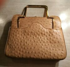 "Vintage ""Bags by Varon"" Ostrich Leather Purse Handbag"
