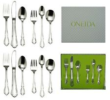 Set of 2 Oneida Chateau 6 Piece Child & Baby Progress Sets Stainless Flatware