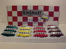 Pack of 12  VW Bus Volkswagen Van 1962 Die-cast Car 1:64 by Kinsmart 2.5 inch