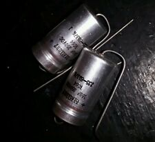Mallory axial electrolytic capacitors 16uF 350V VDC NOS lot of 2