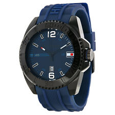 Tommy Hilfiger Navy Dial Navy Silicone Strap Mens Watch 1791040