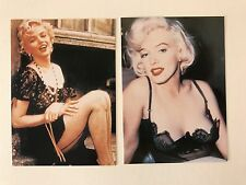 PROMO CARDS: MARILYN MONROE by SILVER SCREEN (UK): 2 DIFFERENT #15 & #20