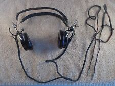 FROST FONES vintage PILOT ? RADIO HEADSET RECEIVERS 172 1600 Military ? WWII ?