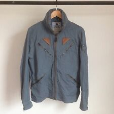RALPH LAUREN RRL MASON COTTON FLIGHT JACKET DOUBLE RL MA-1 A2 DECK BLUE SS2013 S