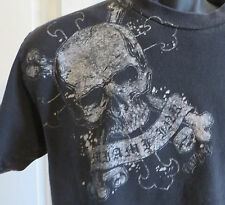 Miami Ink Skull Cross Bones Tshirt Authentic Tattoo Design Medium