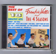CD NEW FRANKIE VALLI AND THE 4 SEASONS 18 GREATEST HITS