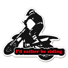 "I'd Rather Be Riding Bike Motorcycle car bumper sticker decal 5"" x 3"""