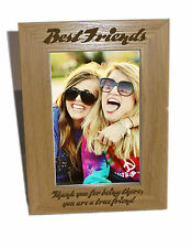 Best Friends Wooden Photo Frame 5x7- Personalise This Frame - Free Engraving