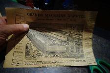 Encart Publicitaire GRANDS MAGASINS DUFAYEL Paris