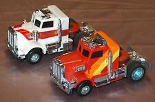 VINTAGE TCR (2) Tractor Trailer Semi Trucks  HO 1977 SLOT CARS with BOX!