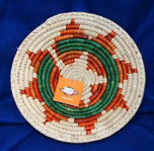 "Small Handwoven Basket Collectible Decorative New Pakistan 9x2"" S-03"