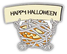 """Halloween Pumpkin Mummy Car Bumper Sticker Decal 5"""" x 4"""""""