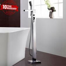 Waterfall Freestanding Bath Shower Mixer Tap Chrome Modern Cascade Bathroom