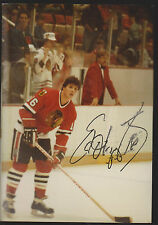Ed Olczyk Chicago Blackhawks Auto Signed 3x5 Photo