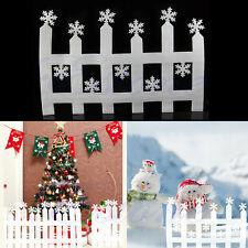 2pcs White Snowflake Fence Christmas Xmas Decoration Ornament Wall Decals