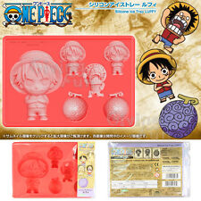 GENUINE ONE PIECE LUFFY Silicone Ice Tray Bread Cake Chocolate Pudding Mold Case