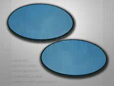 NEW MINI COOPER S R50 R52 R53 BLUE MIRROR GLASS SET HEATED POLARIZED PERFORMANCE
