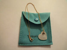 Tiffany & Co.18k Yellow Gold Mother Of Pearl Double Heart Pendant Necklace