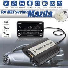 1set Auto Bluetooth Kits Hands-free Stereo AUX Adapter Interface Fit For Mazda