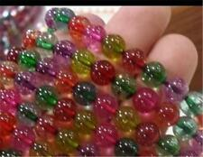 "8mm Multicolor Tourmaline Round Loose Beads 15"" AAA K-200"