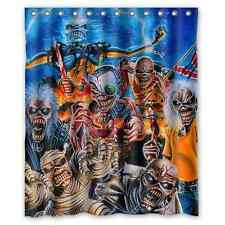 Heavy Metal Music Skull Style Waterproof Shower Curtain/Bath Curtain 60x72 Inch