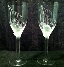 Lalique Angel Champagne Flutes Pair Excellent With Very Light Scratches