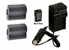 TWO 2 Batteries + Charger for Panasonic DMC-FZ30PP DMC-FZ30S DMC-FZ35 DMC-FZ35K