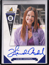 "2011 PANINI PINNACLE FANS OF THE GAME HEIDI ANDROL ""NHL NETWORK/KINGS"" AUTOGRAPH"
