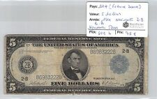 USA - 5 DOLLARS 1914 NEW YORK 2B BB  FEDERAL RESERVE SIGNATURES RARES!!!