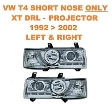 VW T4 Transporter Van & Bus DRL XTC Chrome Projector Headlights SHORT NOSE ONLY