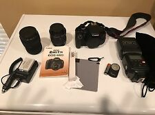 Canon Rebel T3i EOS 600D Digital SLR Camera EFS With Two Lenses Very Little Use