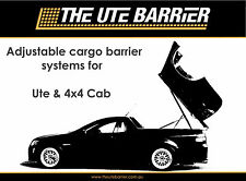 FORD FALCON FG FGX UTE ADJUSTABLE CARGO BARRIER  SYSTEM WITH LED LIGHTING