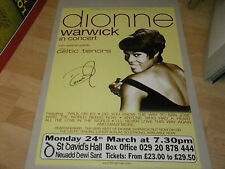 DIONNE WARWICK SIGNED POSTER