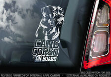 Cane Corso - Car Window Sticker - Dog Sign -V06