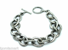 For Him Her Women Men's Steel Curb Goth Bracelet Bracelets Chain Cool