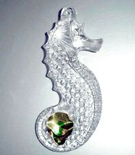 Waterford Celtic Seahorse Ornament Genuine Lead Crystal New