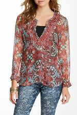 $293 Custo Barcelona Sela Rococorum Sequin Silk Tunic Size 3 (M/L - see notes)