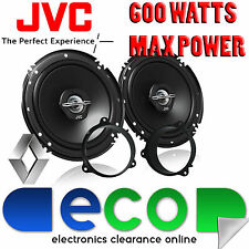 Renault Kangoo 12-14 JVC 16cm 6.5 Inch 600 Watts 2 Way Front Door Car Speakers